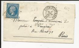 Napoléon 20 C Non Dentelé Obl  PC 2511  Indice 7 Pont Faverger  Septembre1861 - Type 1 - 1849-1876: Klassieke Periode