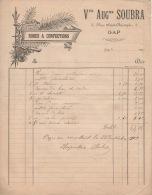 Facture  1903 Soubra   Robes Et Confections GAP - France