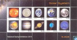 Sri Lanka Stamps 2014, Solar System, MS (National Stamp Exhibition) - Sri Lanka (Ceylon) (1948-...)
