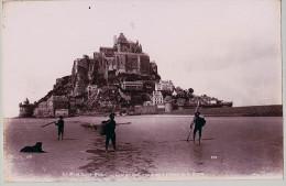 MONT SAINT MICHEL / ET BIRKA MARCHETIRAGE UNIQUE DE 1890 ALBUMINE FORMA 19,5 X 12 CM - Photographs