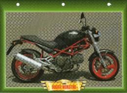 1998 DUCATI MONSTRO     /   FICHE TECHNIQUE MOTO FORMAT A4  DÉTAILS CARACTÉRISTIQUES TBE - Motor Bikes