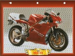 1998  DUCATI  916 / FICHE TECHNIQUE MOTO FORMAT A4  DÉTAILS CARACTÉRISTIQUES TBE - Motor Bikes