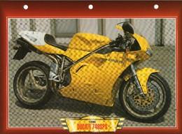 1998  DUCATI  748 SPS / FICHE TECHNIQUE MOTO FORMAT A4  DÉTAILS CARACTÉRISTIQUES TBE - Motor Bikes