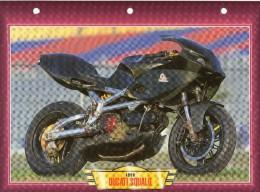 1999  DUCATI  SQUALO  / FICHE TECHNIQUE MOTO FORMAT A4  DÉTAILS CARACTÉRISTIQUES TBE - Motor Bikes