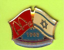 Pin's Mac Do McDonald's Drapeau Israël / Israel ( 1er Restaurant 1993) - 9X16 - McDonald's