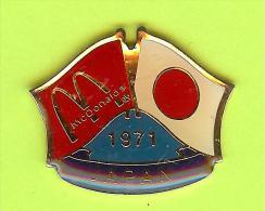 Pin's Mac Do McDonald's Drapeau Japon / Japan ( 1er Restaurant 1971) - 9X18 - McDonald's