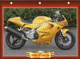 1997  TRIUMPH DAYTONA T595  / FICHE TECHNIQUE MOTO FORMAT A4  DÉTAILS CARACTÉRISTIQUES TBE - Motor Bikes