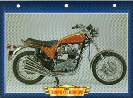 1973  TRIUMPH X75 HURRICANE   / FICHE TECHNIQUE MOTO FORMAT A4  DÉTAILS CARACTÉRISTIQUES TBE - Motor Bikes
