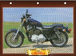 1999  HARLEY DAVIDSON XL 1200 S SPORTSTER    /   FICHE TECHNIQUE MOTO FORMAT A4  DÉTAILS CARACTÉRISTIQUES TBE - Motos