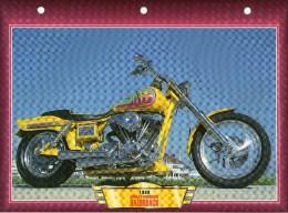 1993  HARLEY DAVIDSON RAZORBACK    /   FICHE TECHNIQUE MOTO FORMAT A4  DÉTAILS CARACTÉRISTIQUES TBE - Motor Bikes