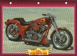 1992  HARLEY DAVIDSON CUSTOM   LOWRIDER SPORT  /   FICHE TECHNIQUE MOTO FORMAT A4  DÉTAILS CARACTÉRISTIQUES TBE - Motor Bikes