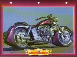 1995  HARLEY DAVIDSON  SPRINTER  /   FICHE TECHNIQUE MOTO FORMAT A4  DÉTAILS CARACTÉRISTIQUES TBE - Motos