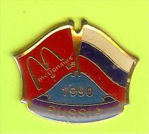 Pin's Mac Do McDonald's Drapeau Russie / Russia (1er Restaurant 1990) - 10X10 - McDonald's