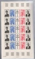 1971  Anniversaire  De La Mort Du Général De Gaulle Feuille Complète 1695/1698** X5 - Full Sheets