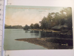 USA   Kentucky  Covington -View Of Lake And Boat House , Beautiful Lagoon -  1909  D127202 - Covington