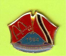 Pin's Mac Do McDonald's Drapeau Trinité-et-Tobago / Trinidad (1er Restaurant 1994) - 10X21 - McDonald's