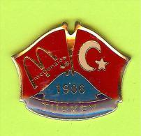 Pin's Mac Do McDonald's Drapeau Turquie / Turkey (1er Restaurant 1986) - 10X22 - McDonald's