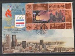 Yugoslavia 1996 Olympic Sommergames Atlanta M/s FDC (F2849) - Summer 1996: Atlanta