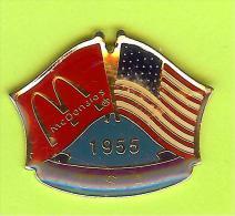 Pin's Mac Do McDonald's Drapeau États-Unis / United States U.S.A. (1er Restaurant 1955) - 10X24 - McDonald's