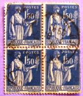 France YT N°288 Paix (Bloc De 4) Oblitéré PHOTO RECTO VERSO - 1932-39 Peace