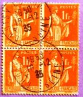 France YT N°286 Paix (Bloc De 4) Oblitéré PHOTO RECTO VERSO - 1932-39 Peace