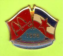 Pin's Mac Do McDonald's Drapeau Yougoslavie /Yugoslavia (1er Restaurant 1988) - 10X29 - McDonald's