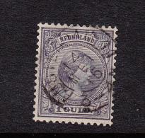 NEDERLAND KONINGIN WILHELMINA 1 GULDEN HANGEND HAAR - 1891-1948 (Wilhelmine)