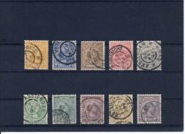 NVPH Nr. 34 T/m 38 En 40 T/m 44 Gebruikt (CW = € 168,50) - Mooie Stempels! - Used Stamps