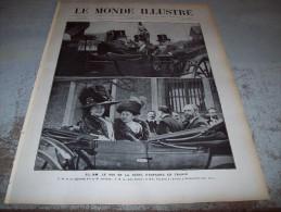 LE MONDE ILLUSTRE 6 AOUT 1910 :  SOUVERAINS ESPAGNOLS - EXERCICES DE TORPILLAGE - PALAIS-BOURBON