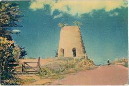 Antigua Ancient Sugar Windmill Moulin   P. Used Basseterre St Kitts Stamps Leeward St Christopher Nevis Anguilla - Antigua & Barbuda