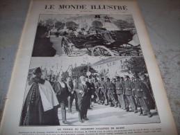 LE MONDE ILLUSTRE 20 AOUT 1910 : INCENDIE EXPO DE BRUXELLES - MONTAUBAN - CIRCUIT DE L'EST -