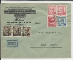 TCHECOSLOVAQUIE - 1946 - ENVELOPPE Par AVION De PEHLRIMOV Pour BASEL (SUISSE) - Tschechoslowakei/CSSR