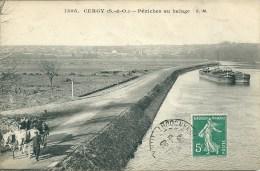 VAL D'OISE - Cergy - Péniches Au Halage - Frankreich