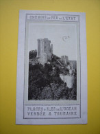 Tarifs Chemins De Fer De L'état Plages & îles De L'océan Vendée Touraine 1914 Avec Carte Et Photos - Publicités