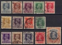 Inde Timbres De Service George VI N° 98, 99, 100, 105 - 115 - 1936-47  George VI