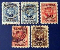 Memel Occupation Lituanienne (KLAJPEDA) 102-106 * Et Obl