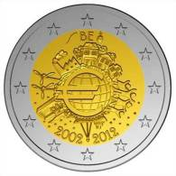 2 EUR 2012 - BELGIE UNC - 10 Jaar Euro 2002-2012 - Belgique