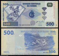 CONGO 500 FRANCS 4.1.2002 PICK 96 SC UNC - Democratic Republic Of The Congo & Zaire