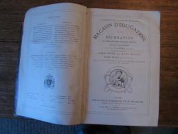 MAGASIN D�EDUCATION ET DE RECREATION HETZEL 1887, Volumes  XLV et XLVI, Jules VERNE, LAURIE, ill. Becker, Benett, Kurner