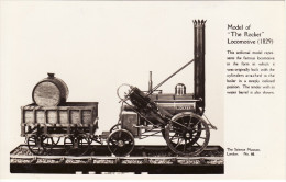Railway RP Postcard Stephenson Rocket Science Museum Model Loco Real Photo - Museum