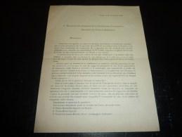 LETTRE IMPRIME DU 27/11/1910 - ADRESSE AUX DELEGUES DE LA CONFERENCE CONSULTATINE POUR LES LIAISONS MARITIMES - Boats