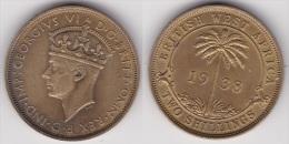 BRITISH WEST AFRICA : 2 SHILLINGS 1938 (voir Scan) - Colonies
