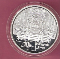 CHINA 10 YUAN 1997 AG PROOF FORBIDDEN CITY SPOTS ONLY ON CAPSEL - Cook
