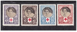 Romania - 1945 - Nuovo/new - Croce Rossa - Mi N. 827/30 - Neufs