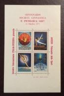 AREZZO  1977  GINNASTI INCONTRO ITALIA - SVIZZERA - ERINNOFILO CINDARELLA - FOGLIETTO  CENT.SOC.F.PETRARCA 1887 - Giochi