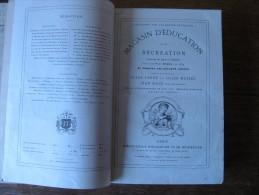MAGASIN D�EDUCATION ET DE RECREATION HETZEL 1890, Volumes  LI et LII, Jules VERNE, LERMONT, ill. Fro�lich, Benett....