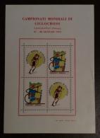 CICLISMP CAMPIONATI MONDIALI CICLOCROSS SACCOLONGO PADOVA  1979 - ERINNOFILO CINDARELLA - FOGLIETTO  SPECIALE - Giochi