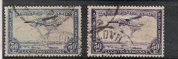 CONGO BELGE PA15 2 Nuances - Airmail: Used