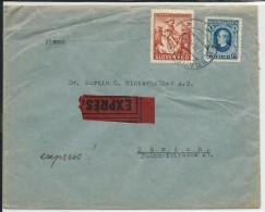 SLOVAQUIE - 1940 - ENVELOPPE De BRATISLAVA Par EXPRES Pour ZÜRICH (SUISSE) - Slovaquie