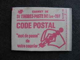 TB Carnet N° 1892-C3a , Avec Date Sur La Marge, Neuf XX. - Usage Courant